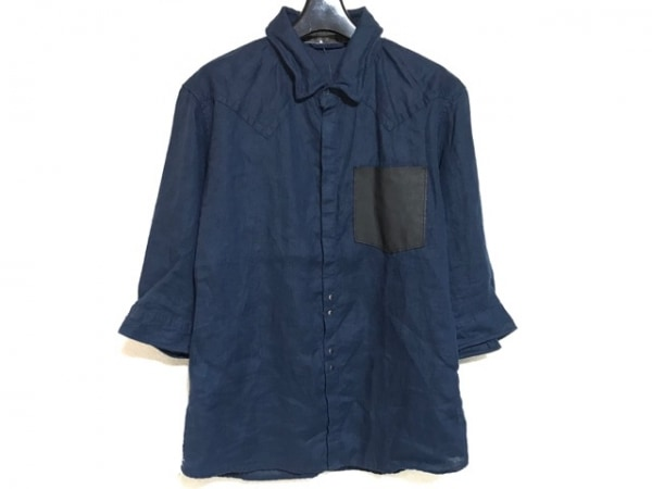 FranCisT_MOR.K.S.(フランシストモークス) 七分袖シャツ サイズ2 M メンズ ネイビー