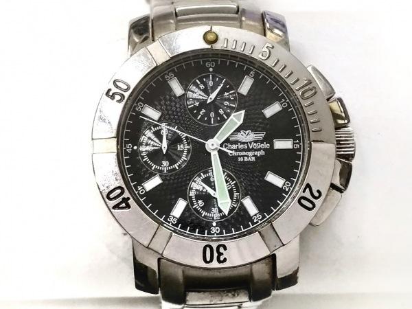 CharlesVogele(シャルルホーゲル) 腕時計 CV-7821 メンズ 黒