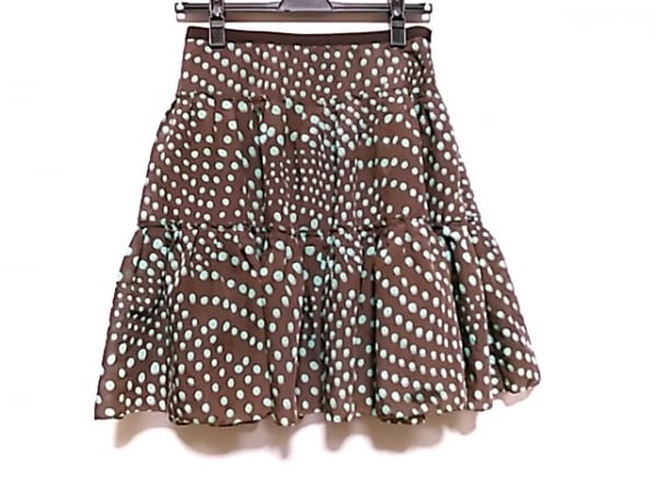 LANVIN en Bleu(ランバンオンブルー) スカート サイズ38 M レディース美品  ドット柄