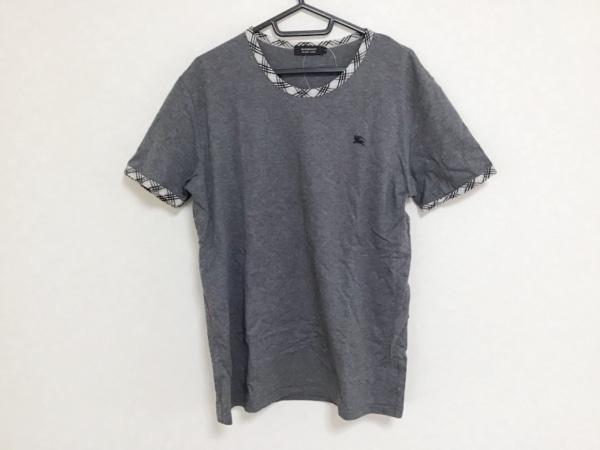 バーバリーブラックレーベル 半袖Tシャツ サイズ3 L メンズ チェック柄