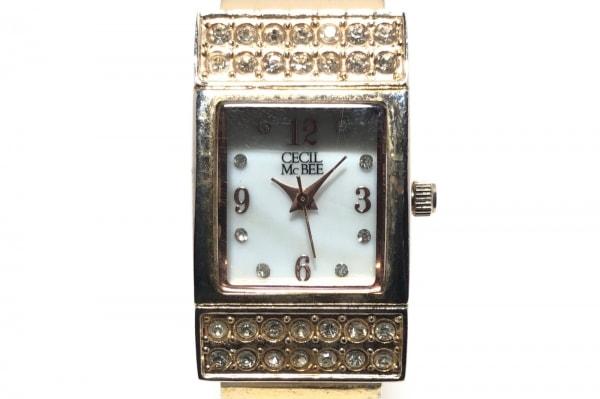 CECILMcBEE(セシルマクビー) 腕時計 CM018 レディース ラインストーン 白
