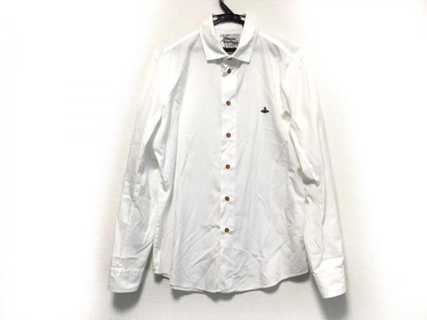 ヴィヴィアンウエストウッドマン 長袖シャツ サイズ48 XL メンズ美品  白