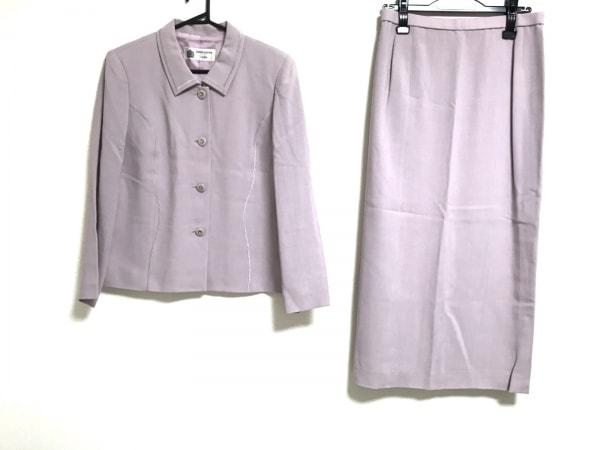 ハーディエイミス スカートスーツ サイズ43 レディース美品  グレージュ 肩パッド