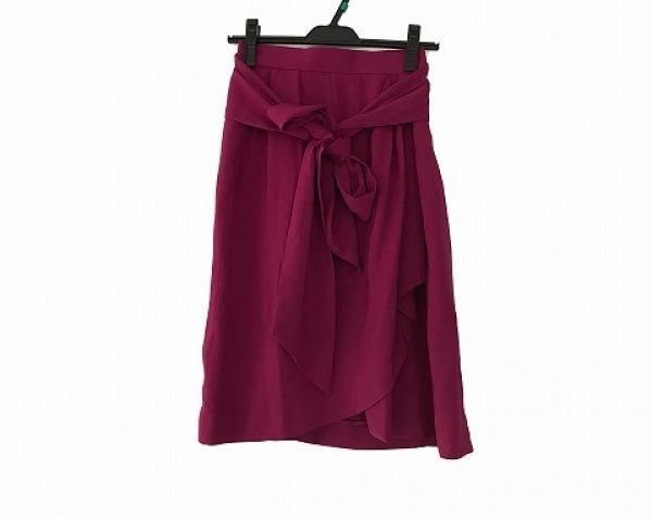 YvesSaintLaurent(イヴサンローラン) 巻きスカート サイズS レディース美品  ボルドー