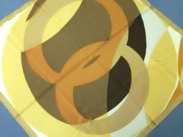 DAMIANI(ダミアーニ) スカーフ美品  オレンジ×ベージュ×マルチ