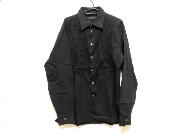 ERMANNO SCERVINO(エルマノシェルビーノ) 長袖シャツ サイズ52 メンズ 黒 刺繍