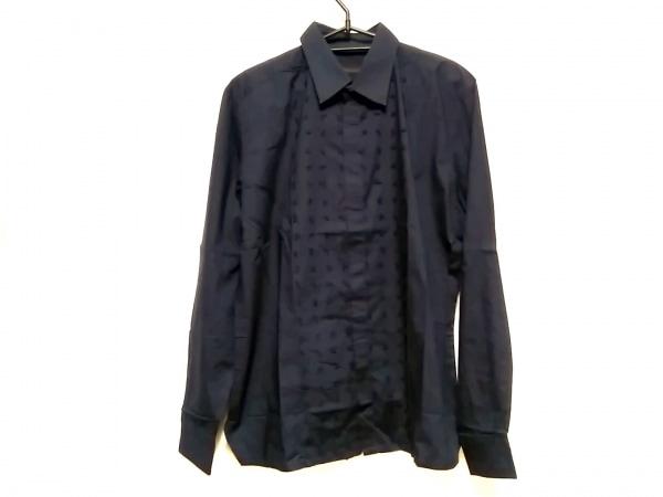 ERMANNO SCERVINO(エルマノシェルビーノ) 長袖シャツ サイズ50 メンズ ネイビー