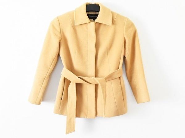 クイーンズコート コート サイズ2 M レディース美品  ライトブラウン 冬物