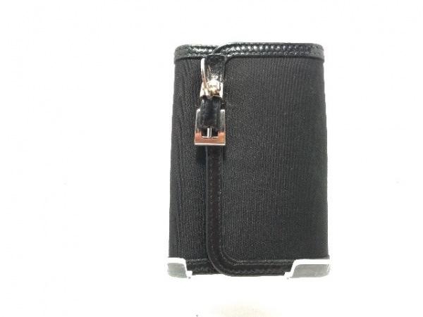 PRADA(プラダ) キーケース - 黒 6連フック ナイロン×レザー