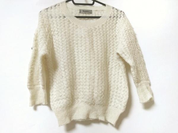 リランドチュール 長袖セーター サイズ2 M レディース美品  アイボリー シースルー