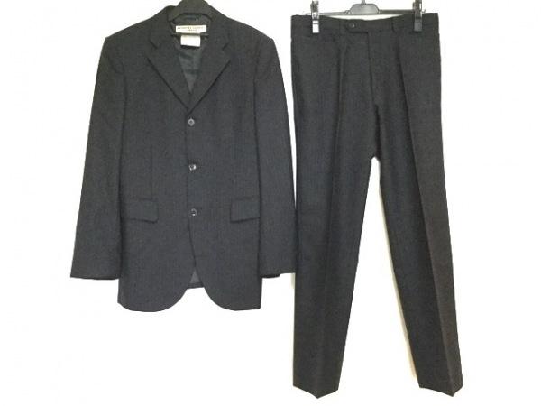 キャサリンハムネット シングルスーツ サイズL メンズ 黒×ライトブルー