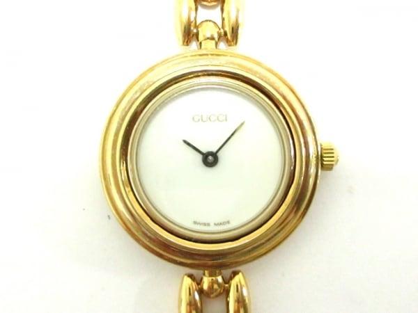 GUCCI(グッチ) 腕時計美品  ベゼルウォッチ 11/12.2 レディース アイボリー