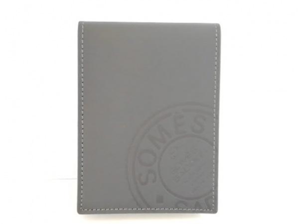 SOMES SADDLE(ソメスサドル) 手帳美品  黒 メモパッド レザー×ペーパー