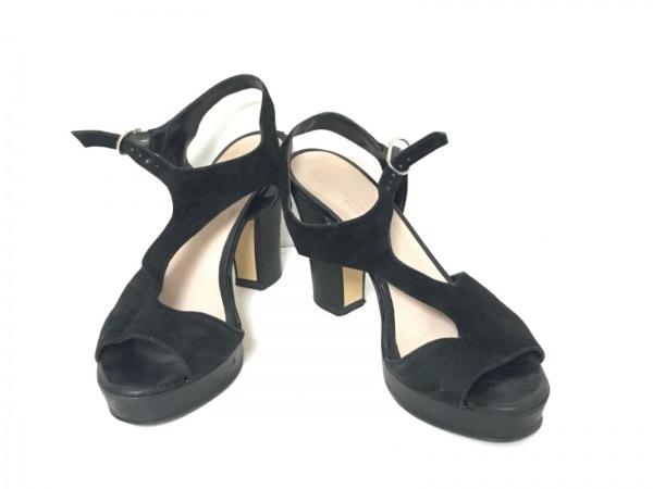 around the shoes(アラウンドザシューズ) サンダル 36 レディース 黒 スエード