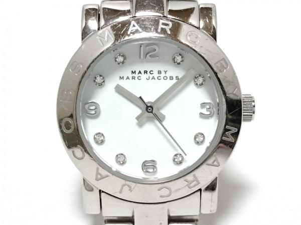 マークジェイコブス 腕時計 MBM3055 レディース ラインストーン 白