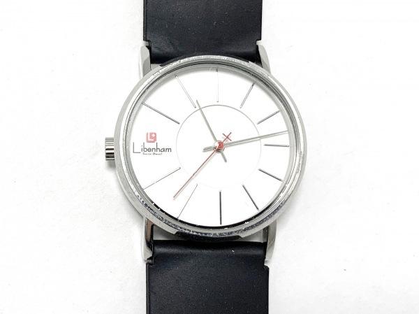 Libenham(リベンハム) 腕時計美品  - - レディース ラバーベルト/裏スケ 白