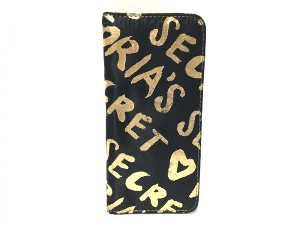 Victoria's Secret(ヴィクトリアシークレット) 小物入れ 黒×ゴールド 化学繊維