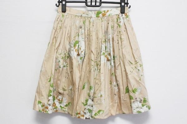 ブルーガール ミニスカート サイズ40 M レディース ベージュ×マルチ 花柄