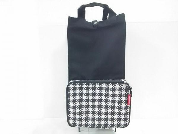 ライゼンタール キャリーバッグ美品  黒×アイボリー 折りたたみ 化学繊維