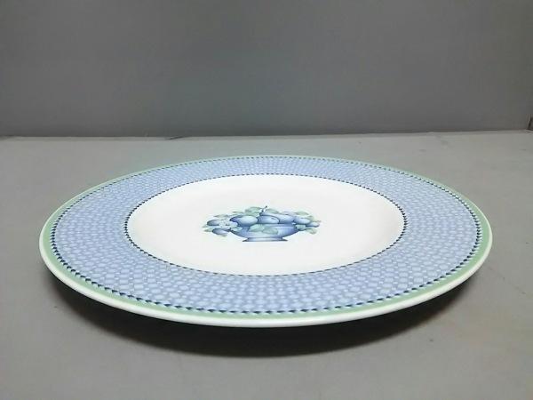 Villeroy&Boch(ビレロイ&ボッホ) プレート新品同様  白×ブルー×グリーン 陶器
