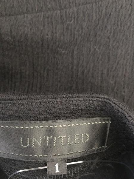 UNTITLED(アンタイトル) ワンピース サイズ1 S レディース美品  黒