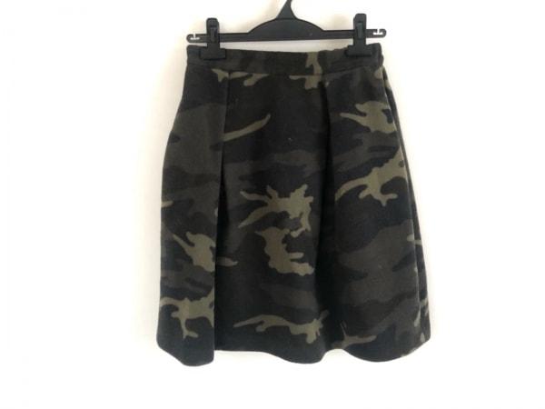 ダイアグラム スカート サイズ36 S レディース カーキ×黒×マルチ 迷彩柄