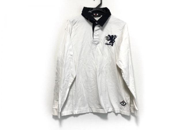 VAN(バン) 長袖カットソー サイズLL メンズ 白×黒