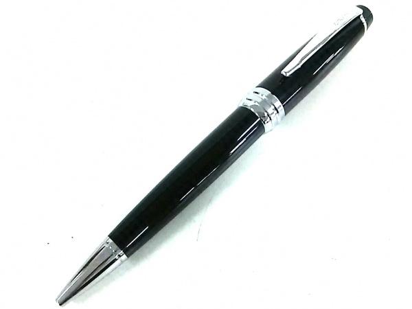 クロス. ボールペン美品  黒×シルバー インクあり(黒) プラスチック×金属素材