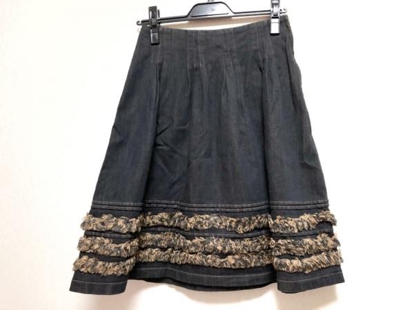 エムズグレイシー スカート サイズ38 M レディース美品  ダークネイビー×ブラウン