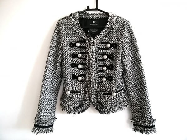 LOVELESS(ラブレス) ジャケット サイズ34 S レディース 黒×白