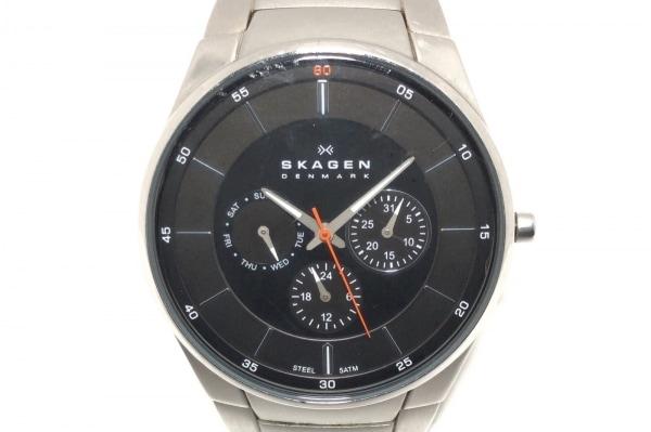SKAGEN(スカーゲン) 腕時計 SKW6054 メンズ トリプルカレンダー 黒