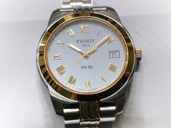 TISSOT(ティソ) 腕時計美品  J376/476 メンズ 白