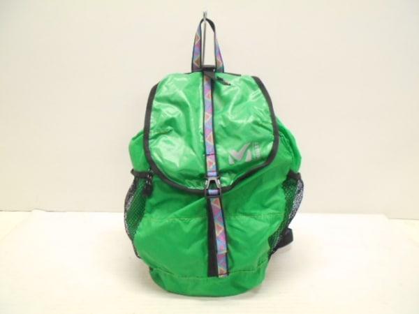 MILLET(ミレー) リュックサック美品  グリーン×黒×マルチ ナイロン