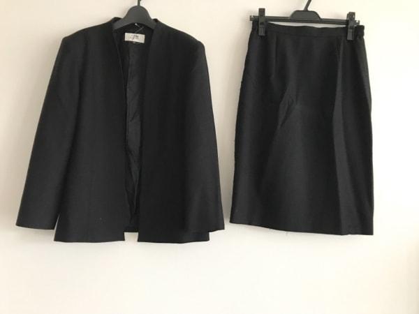 SOIR PERLE(ソワール ペルル) スカートスーツ サイズ13 L レディース 黒 肩パッド