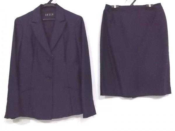 BOSCH(ボッシュ) スカートスーツ サイズM レディース ネイビー 刺繍/ビーズ/3点セット