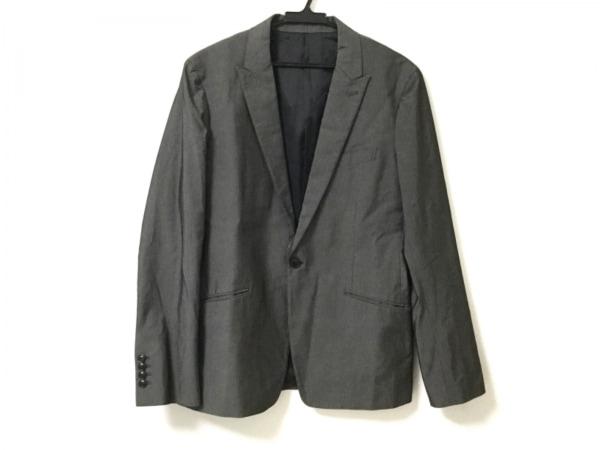 MEN'SBIGI(メンズビギ) ジャケット サイズ3 L メンズ美品  グレー ストライプ