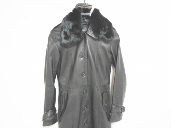LittleNewYork(リトルニューヨーク) コート サイズ4 XL レディース 黒 冬物/レザー