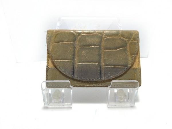 FURLA(フルラ) カードケース グレー 型押し加工 レザー