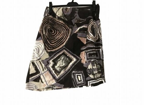 チヴィディーニ スカート サイズ42 M レディース パープル×ダークグレー×マルチ