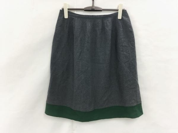 パラスパレス トオカ スカート サイズ3 L レディース美品  グレー×グリーン