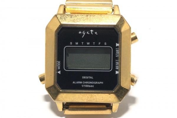 agete(アガット) 腕時計 1007 レディース 黒