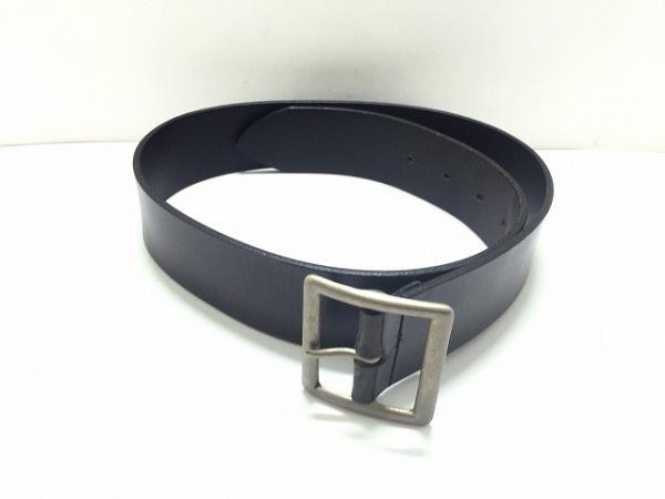 agnes b(アニエスベー) ベルト 28/70 黒×シルバー レザー×金属素材