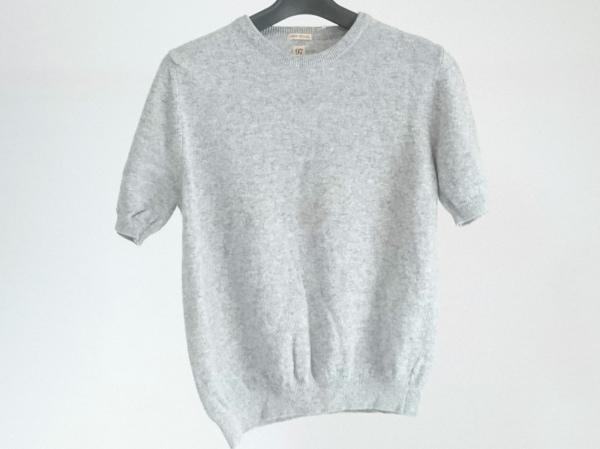 97 Ruedes Mimosas(リューデミモザ) 半袖セーター レディース美品  ライトグレー