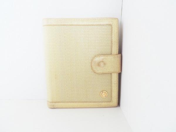 comtesse(コンテス) 2つ折り財布 ベージュ×ゴールド ホースヘアー×レザー