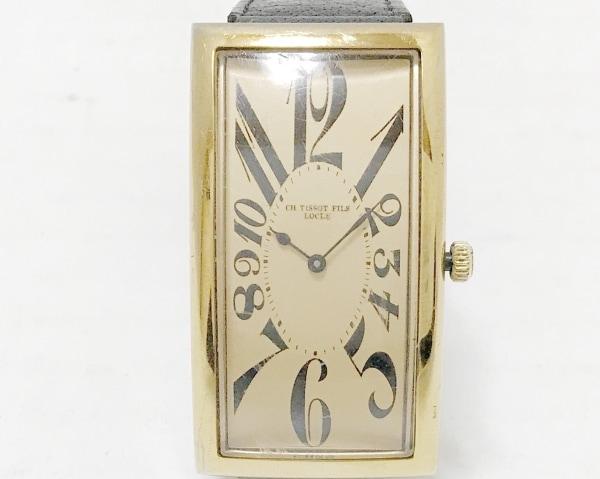 ティソ 腕時計 バナナウォッチレプリカ - メンズ 977本限定/革ベルト ベージュ
