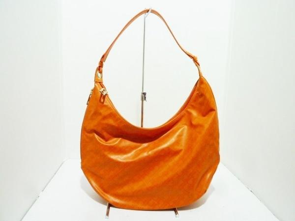 GHERARDINI(ゲラルディーニ) ショルダーバッグ オレンジ PVC(塩化ビニール)×レザー