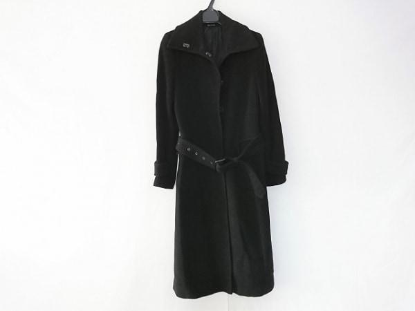 COMME CA DU MODE(コムサデモード) コート サイズ9 M レディース 黒 カシミヤ/冬物