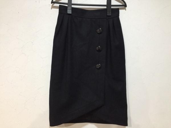 YvesSaintLaurent(イヴサンローラン) 巻きスカート サイズM レディース新品同様  黒