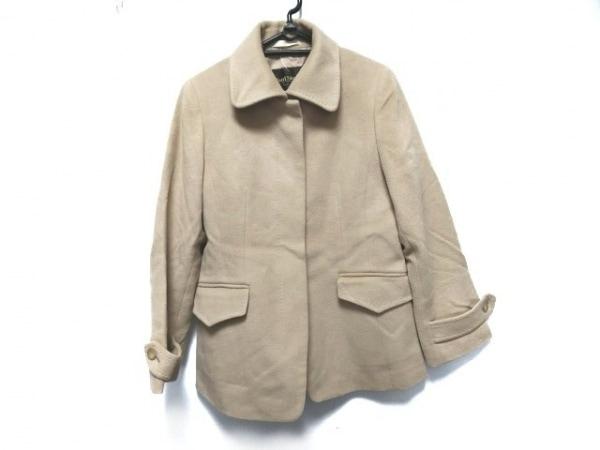 PaulStuart(ポールスチュアート) ジャケット サイズ9 M レディース ベージュ 肩パッド