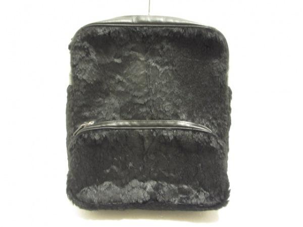 JACQUES LE CORRE(ジャックルコー) リュックサック ロンドン 黒 化学繊維×レザー
